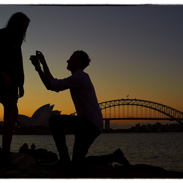 """Marriage Proposal."" stock image"