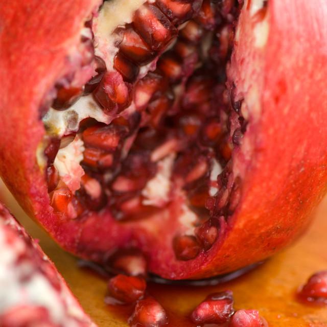 """Open Pomegranate"" stock image"