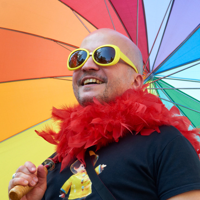 """Rainbow man"" stock image"