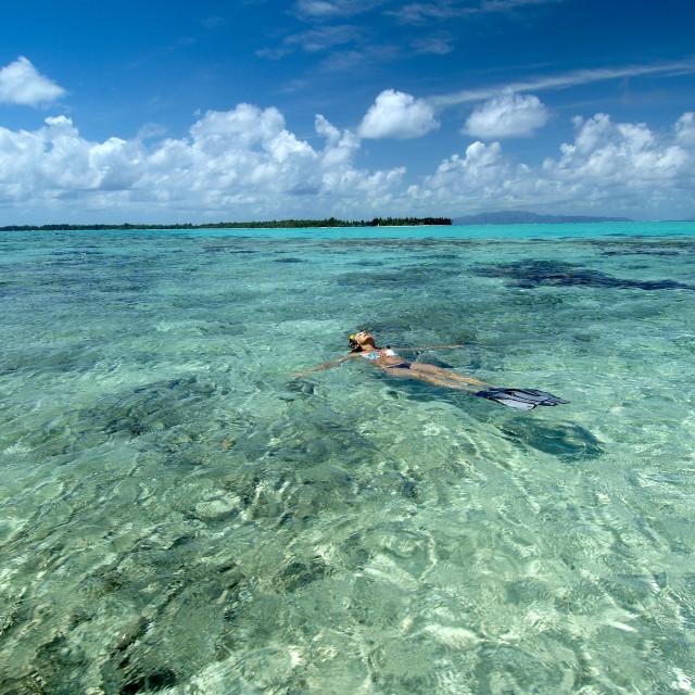 """Relaxing Tahiti"" stock image"