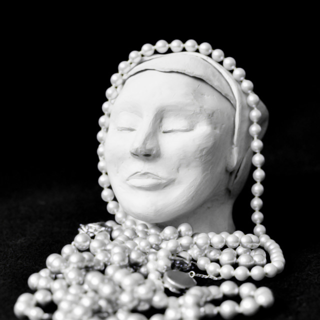 """Meditating with pearls"" stock image"