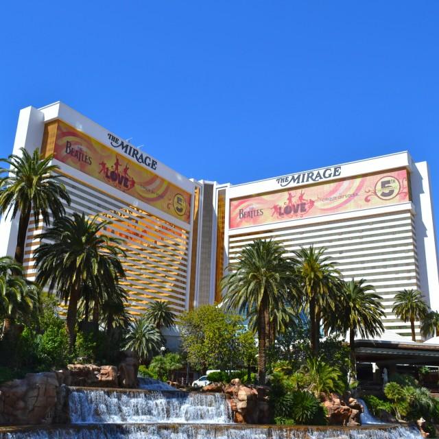 """""""Mirage Hotel Las Vegas"""" stock image"""