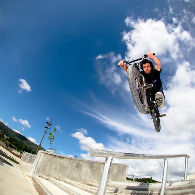 """""""Bmx big air jump"""" stock image"""