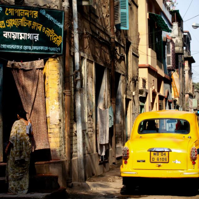 """""""Kolkata Street Scene"""" stock image"""