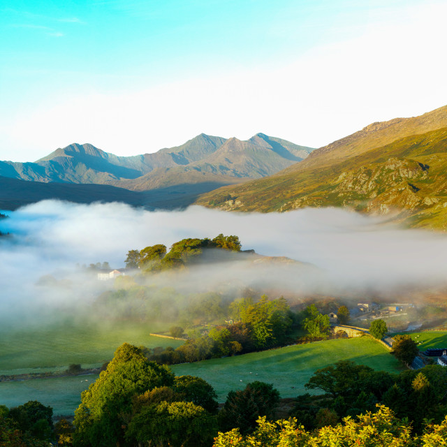 """Snowdon Mountain. North Wales"" stock image"
