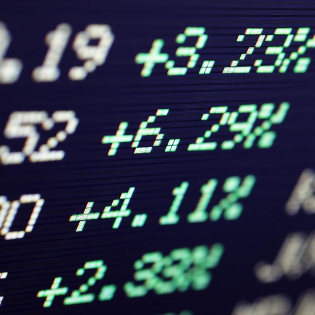 """Stock market"" stock image"