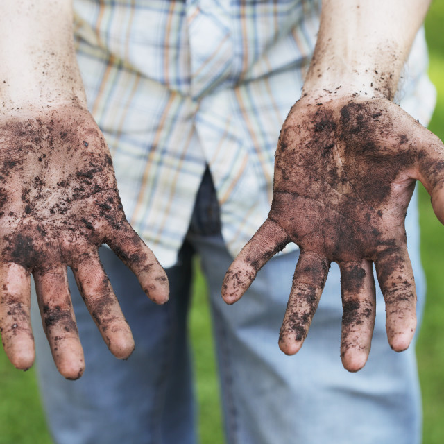 """Dirty hands"" stock image"