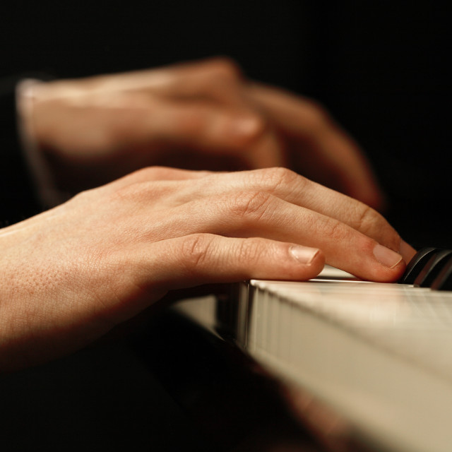 """Piano hands"" stock image"