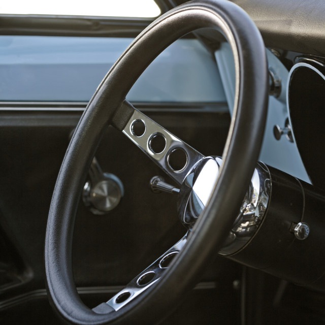 """70s Steering Wheel"" stock image"