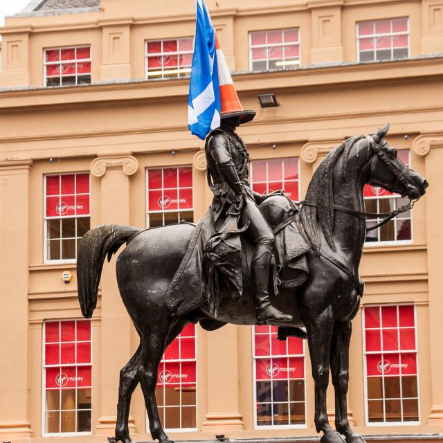 """""""Conehead, Glasgow"""" stock image"""