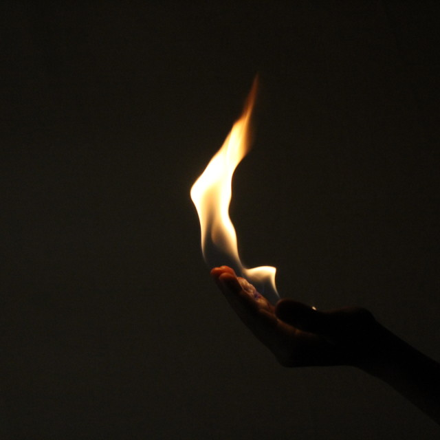 """""""Hand Flames"""" stock image"""