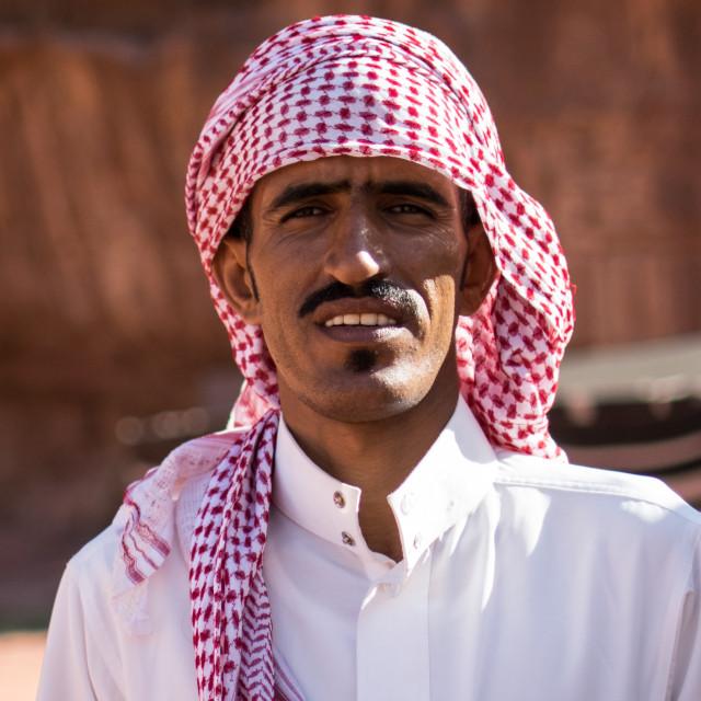 """Bedouin man"" stock image"