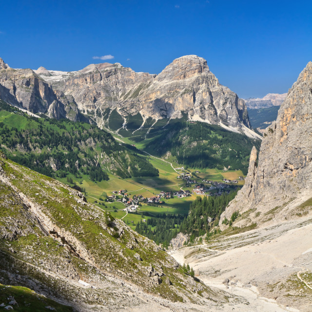 """Dolomiti - Colfosco in Badia Valley"" stock image"