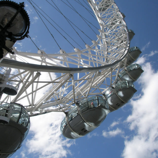 """London Eye Looking Up"" stock image"
