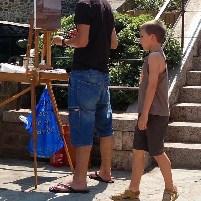 """The Street Artist"" stock image"