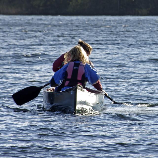 """Canoeists"" stock image"