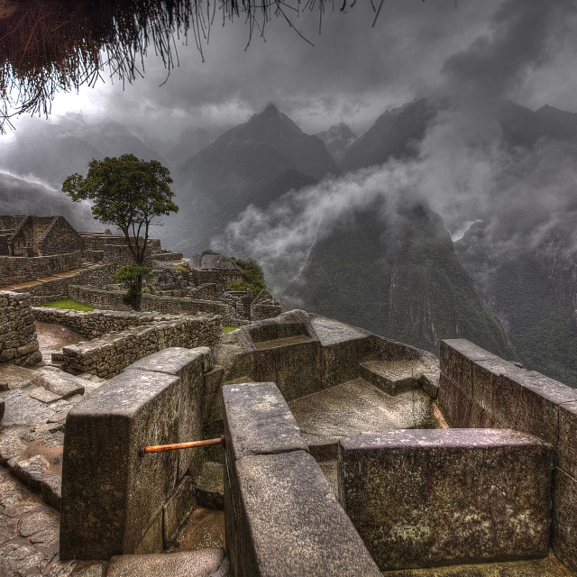 """""""Wet day in Peru"""" stock image"""