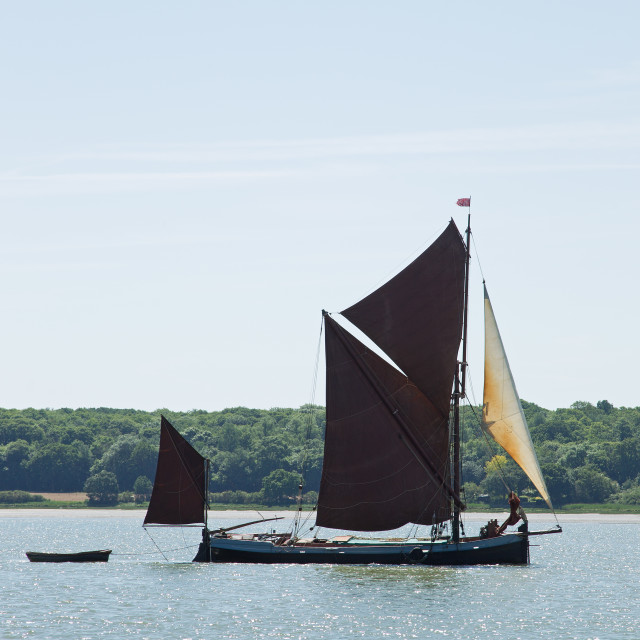 """""""Small Thames Barge"""" stock image"""