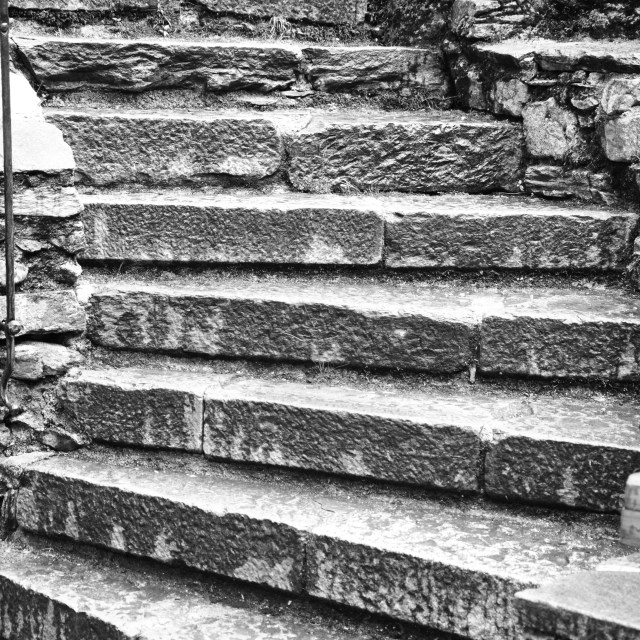 """""""Castle Stairs"""" stock image"""