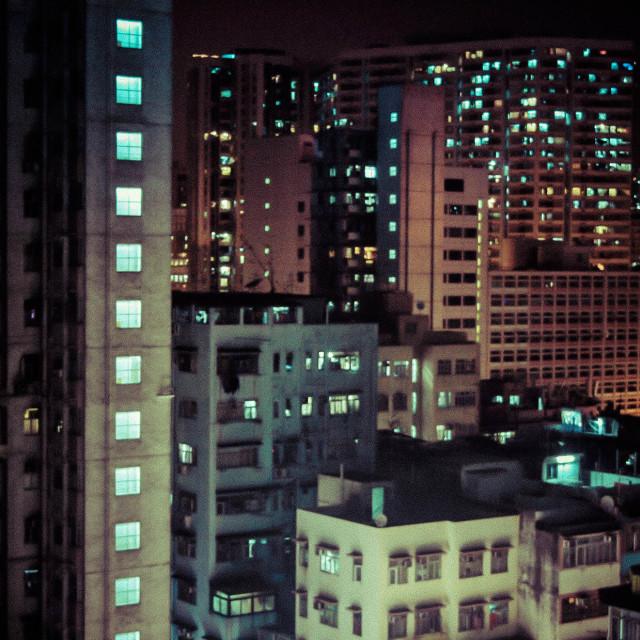 """""""Hong Kong Building Blocks"""" stock image"""