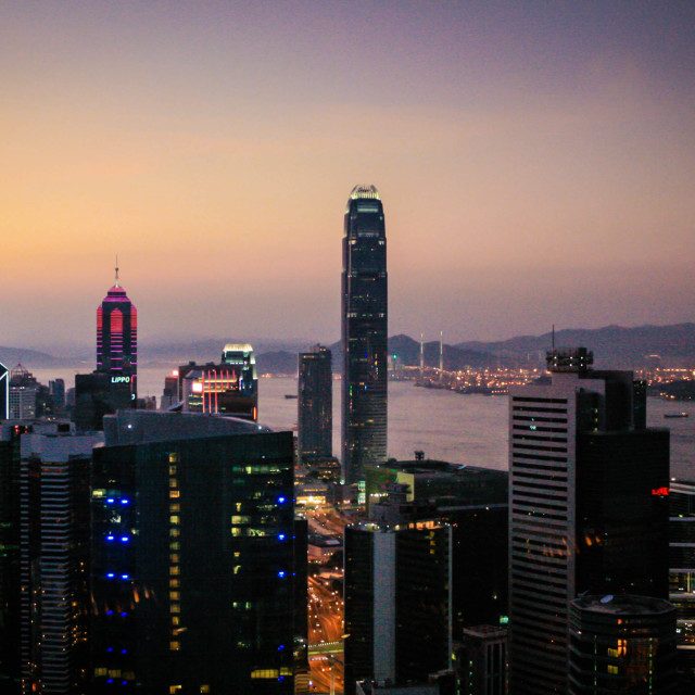 """""""Hong Kong Lights"""" stock image"""
