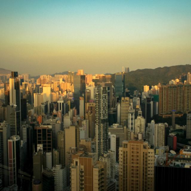 """""""Good Evening Hong Kong"""" stock image"""