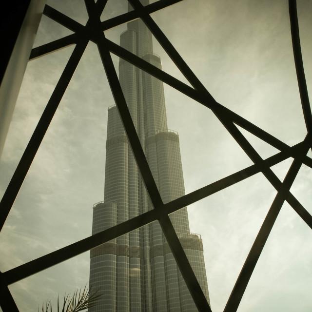 """Burj Khalifa Underwraps"" stock image"