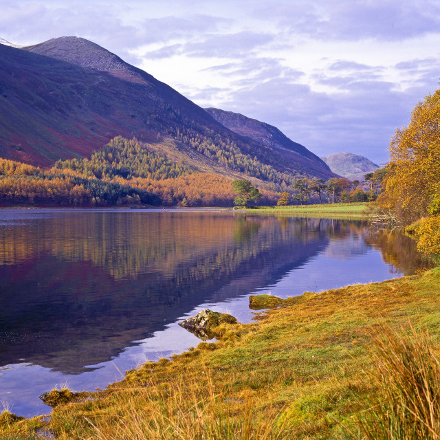 """Buttermere, autumn"" stock image"