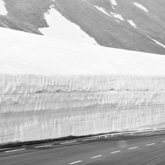 """Snow Wall"" stock image"