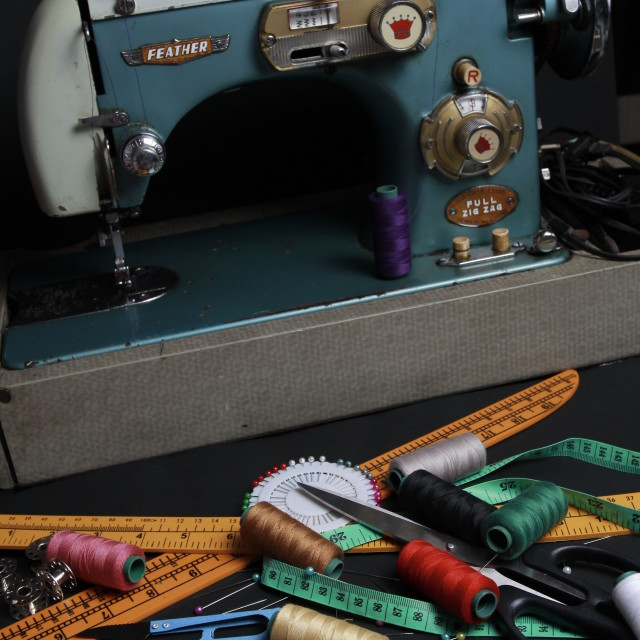 """Sewing Machine"" stock image"