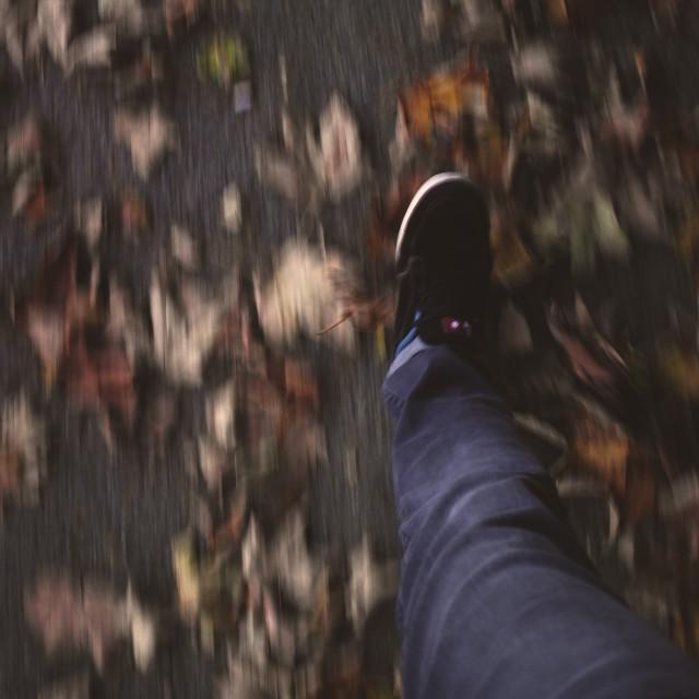"""""""Autumn foot."""" stock image"""