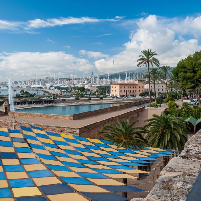"""City view Palma"" stock image"