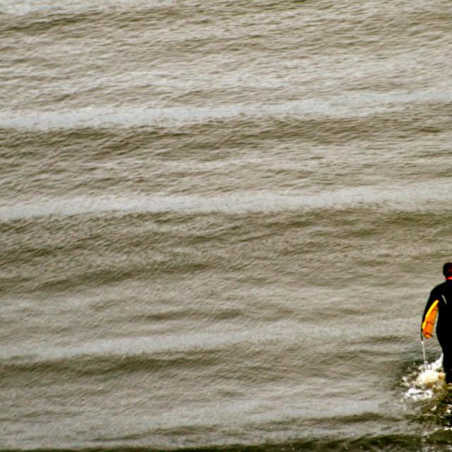 """Surfer North Sea"" stock image"
