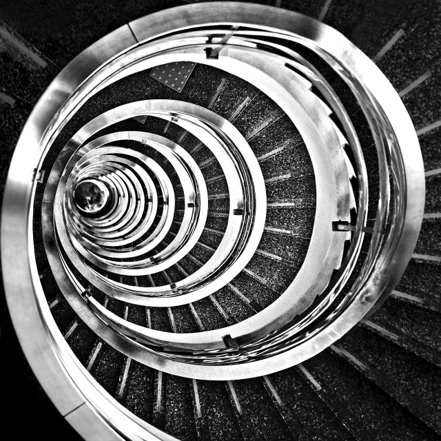 """The Time Tunnel - a beautiful spiral staircase in Sao Paulo, Brazil"" stock image"