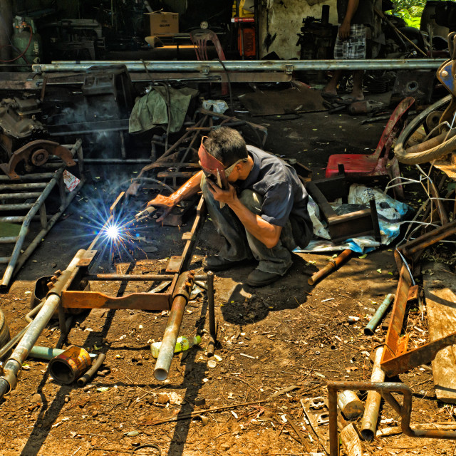 """THE WELDER"" stock image"