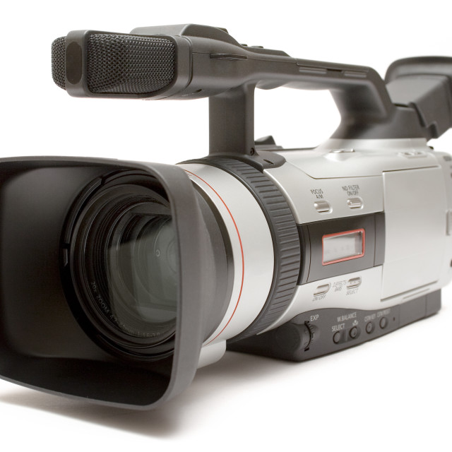 """""""Professional Camcorder"""" stock image"""