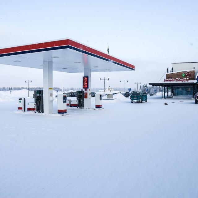 """Arctic petrol station"" stock image"