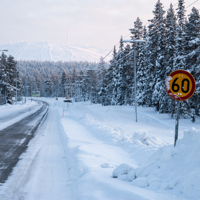 """Arctic road"" stock image"