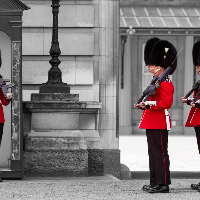 """""""Buckingham Palace Guards"""" stock image"""