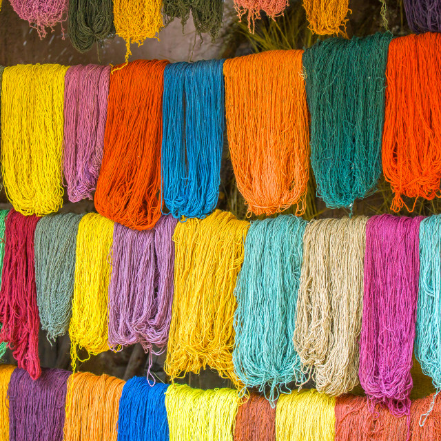 """Colorful wool"" stock image"