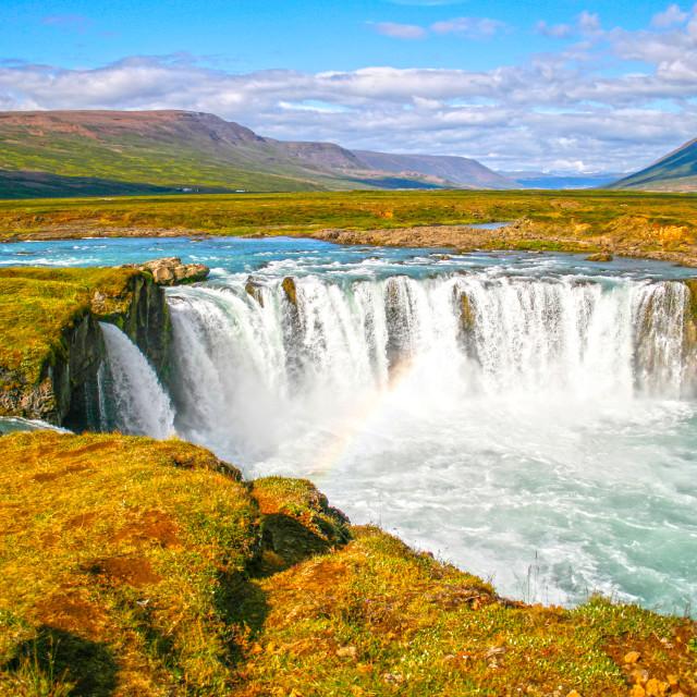 """""""Godafoss waterfall"""" stock image"""