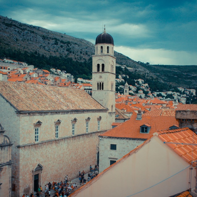 """""""Clouds over Dubrovnik"""" stock image"""