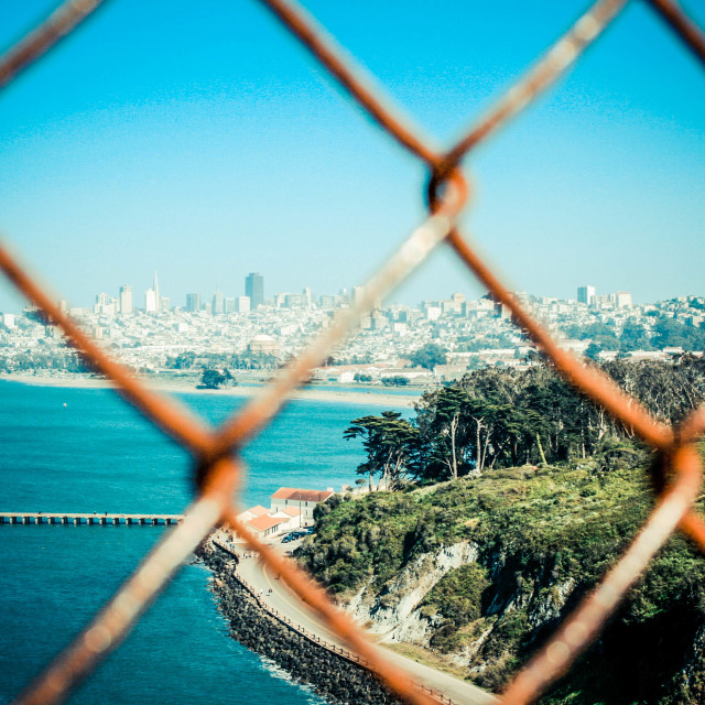 """""""Looking back to San Fran"""" stock image"""
