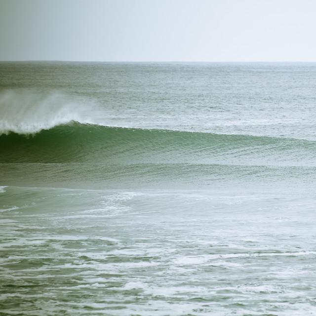 """Big waves, Surfing Ireland"" stock image"