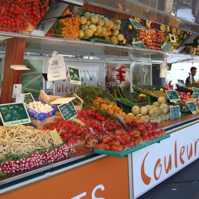 """veg market."" stock image"