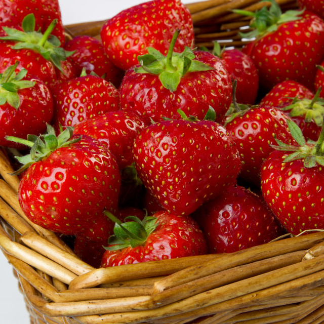 """Basket of Strawberries"" stock image"