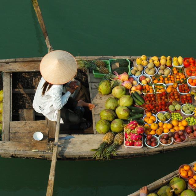 """""""Fruit, anyone?"""" stock image"""