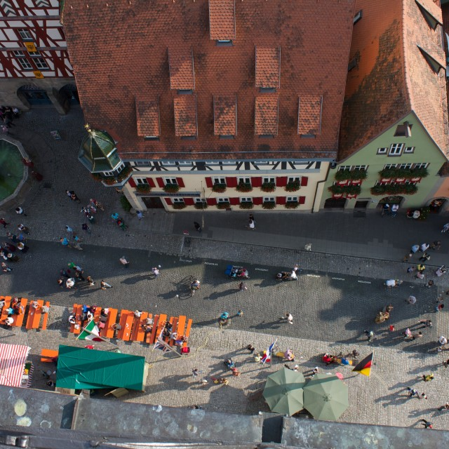 """Rothenburg o.d.T. from above"" stock image"