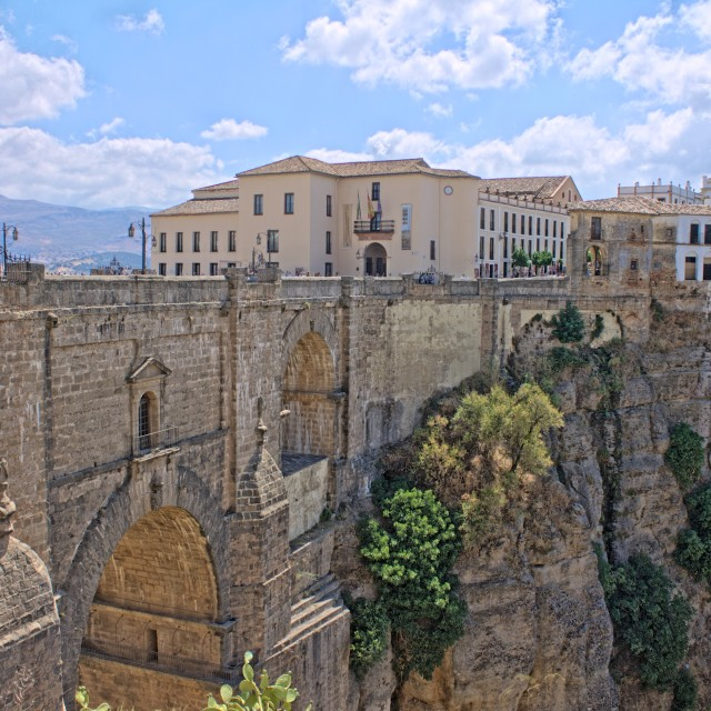 """The New Bridge in Ronda"" stock image"