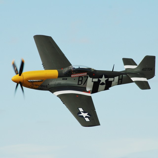 """Mustang P-51D fighter"" stock image"